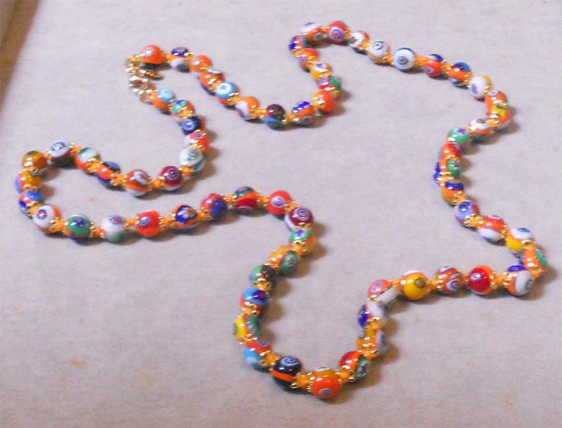 Vintage Murano Gl Beads Millefiori