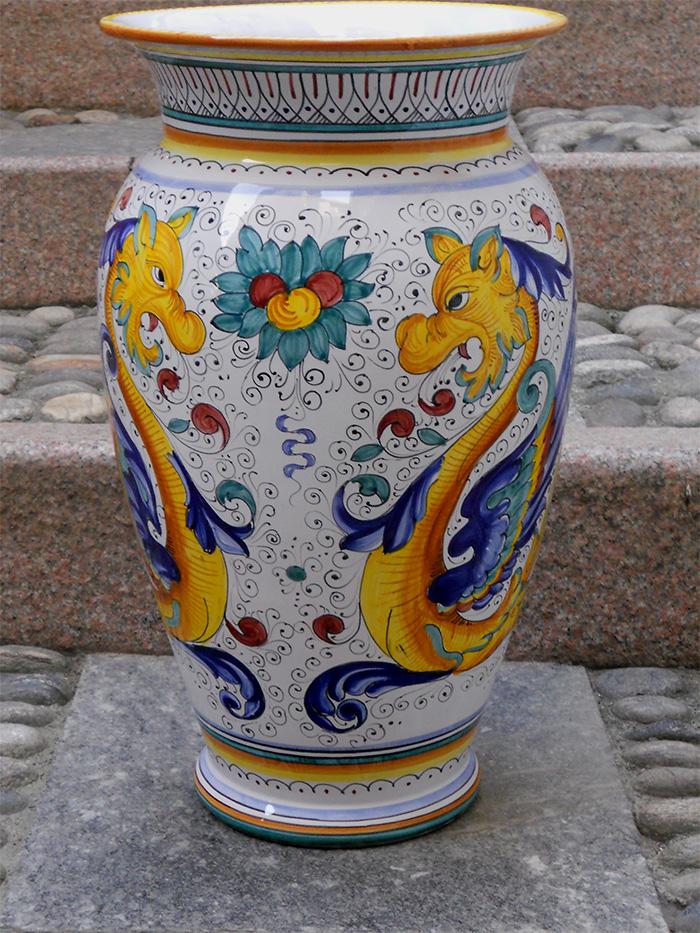 Deruta Pottery Raffaellesco Floor Vase Umbrella Stand Ebay